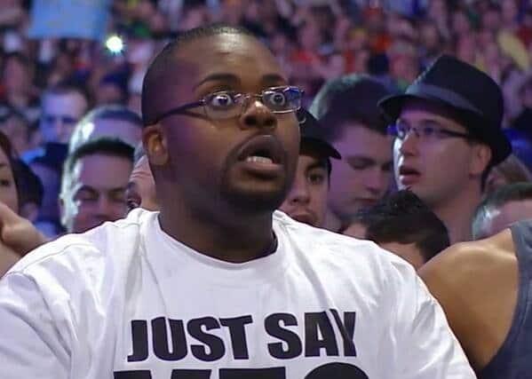 Fan de The Undertaker impactado - captura de pantalla Wrestlemania XXX WWE Network