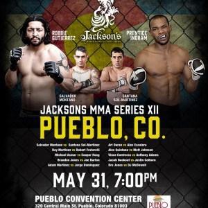 """El mexicano Augusto """"Dodger"""" Montaño en Jacksons MMA Series XII en Colorado 15"""