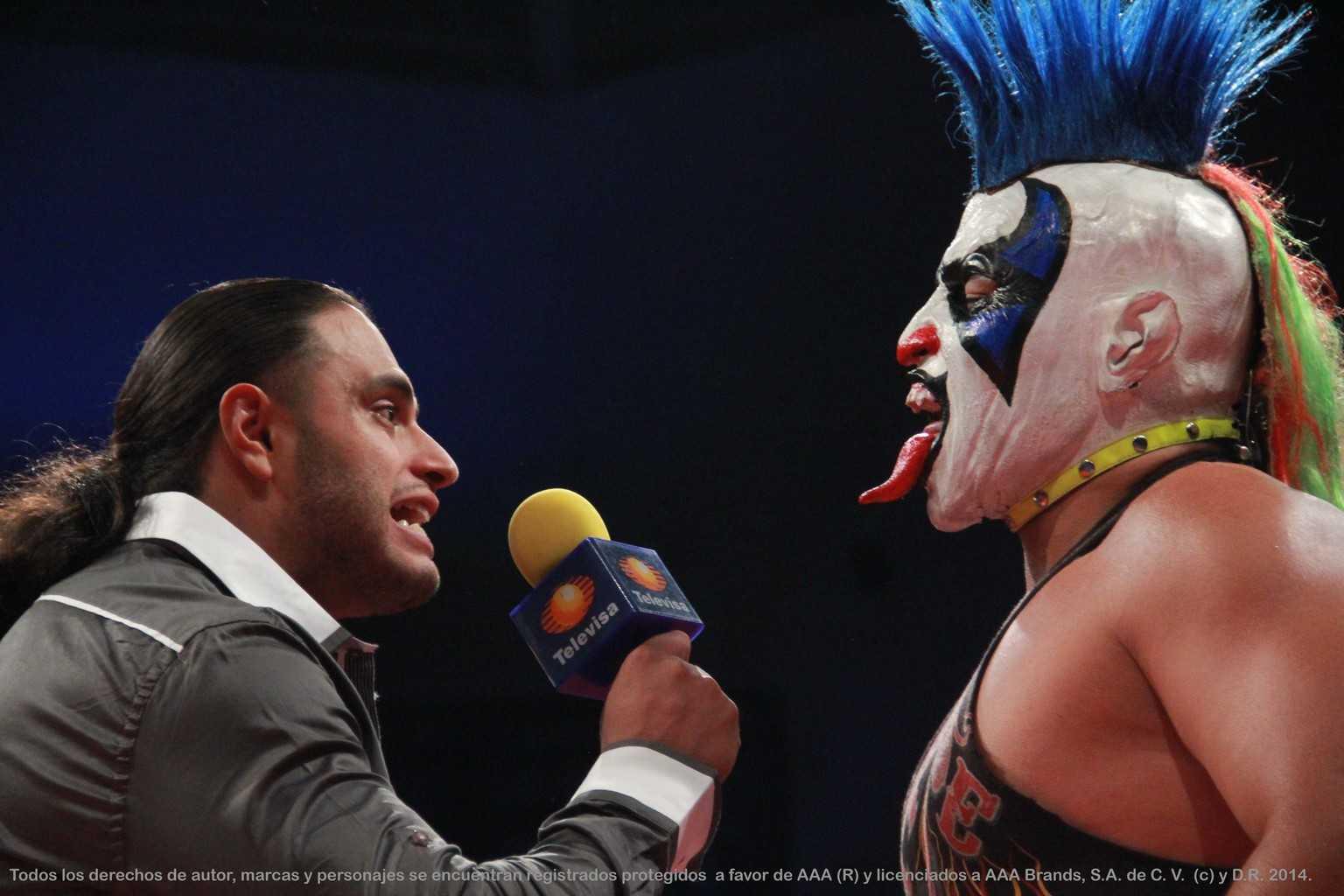 AAA: Resultados evento en Puebla - 20/06/2014 - Confirmada la lucha de apuestas Texano Jr. vs. Psycho Clown 1
