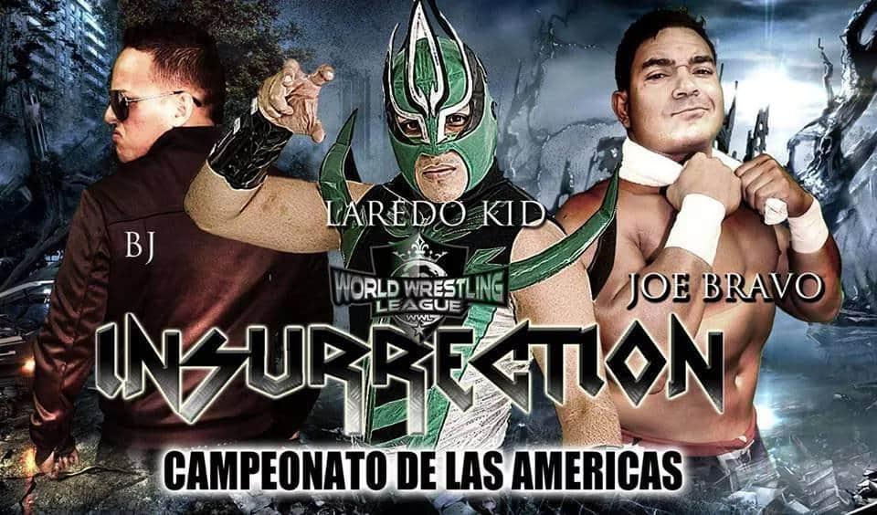 Laredo Kid vs BJ vs Joe Bravo por el Campeonato de las Américas de WWL en Insurrection 1