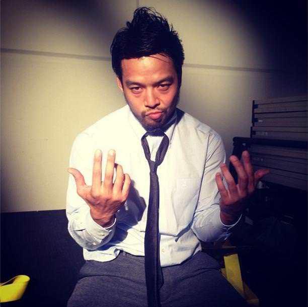 Hideo Itami (antes KENTA) minutos antes de hace su debut en NXT TakeOver // instagram.com/wwe.com