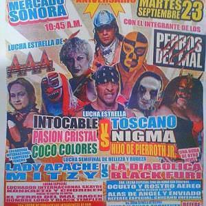57º Aniversario del Mercado de Sonora es festejado con lucha libre. 9