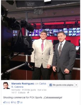 Los comentaristas en Español graban un comercial para Fox Sports Latinoamérica