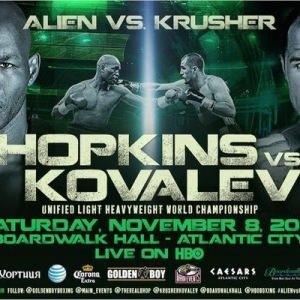 """Hopkins contra Kovalev: Kovalev destronó al """"Alien"""" 4"""
