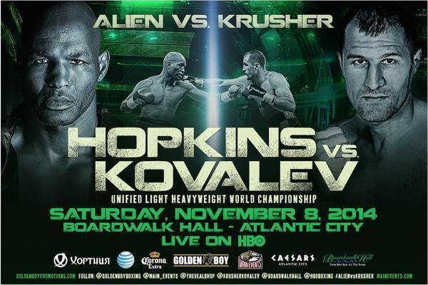 Cartel completo de Hopkins contra Kovalev en noviembre 1