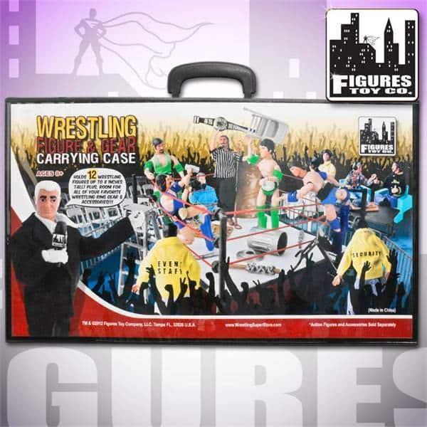 """Wrestling Action Figure & Gear Carrying Case"", otro producto luchístico que vende Figures Toy Company"