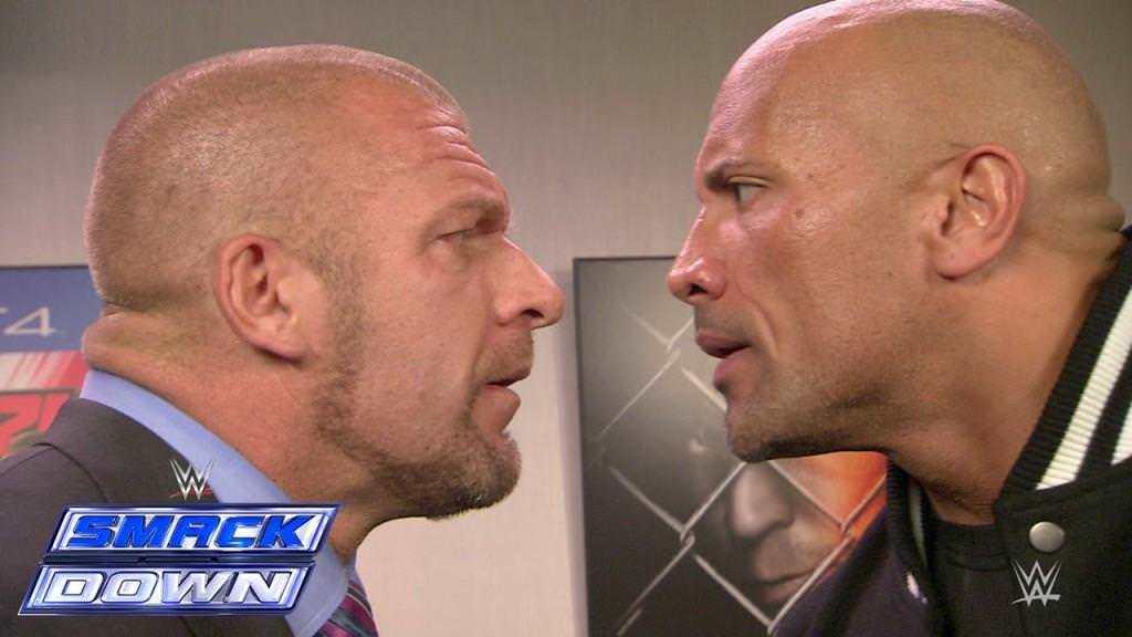 Videos WWE: Triple H y The Rock Cara a Cara, se desafían para luchar en WWE WrestleMania 31