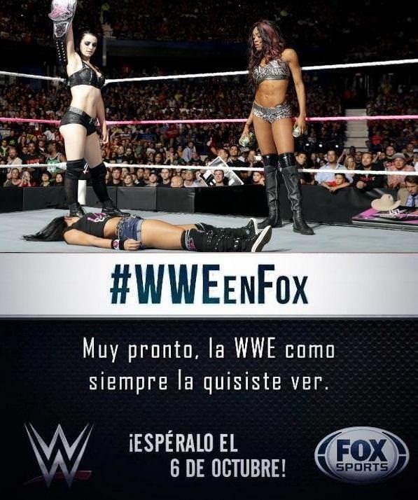 #WWExFOX (Gran Debut de WWE RAW en FOX Sports Latinoamérica - 06/10/2014)