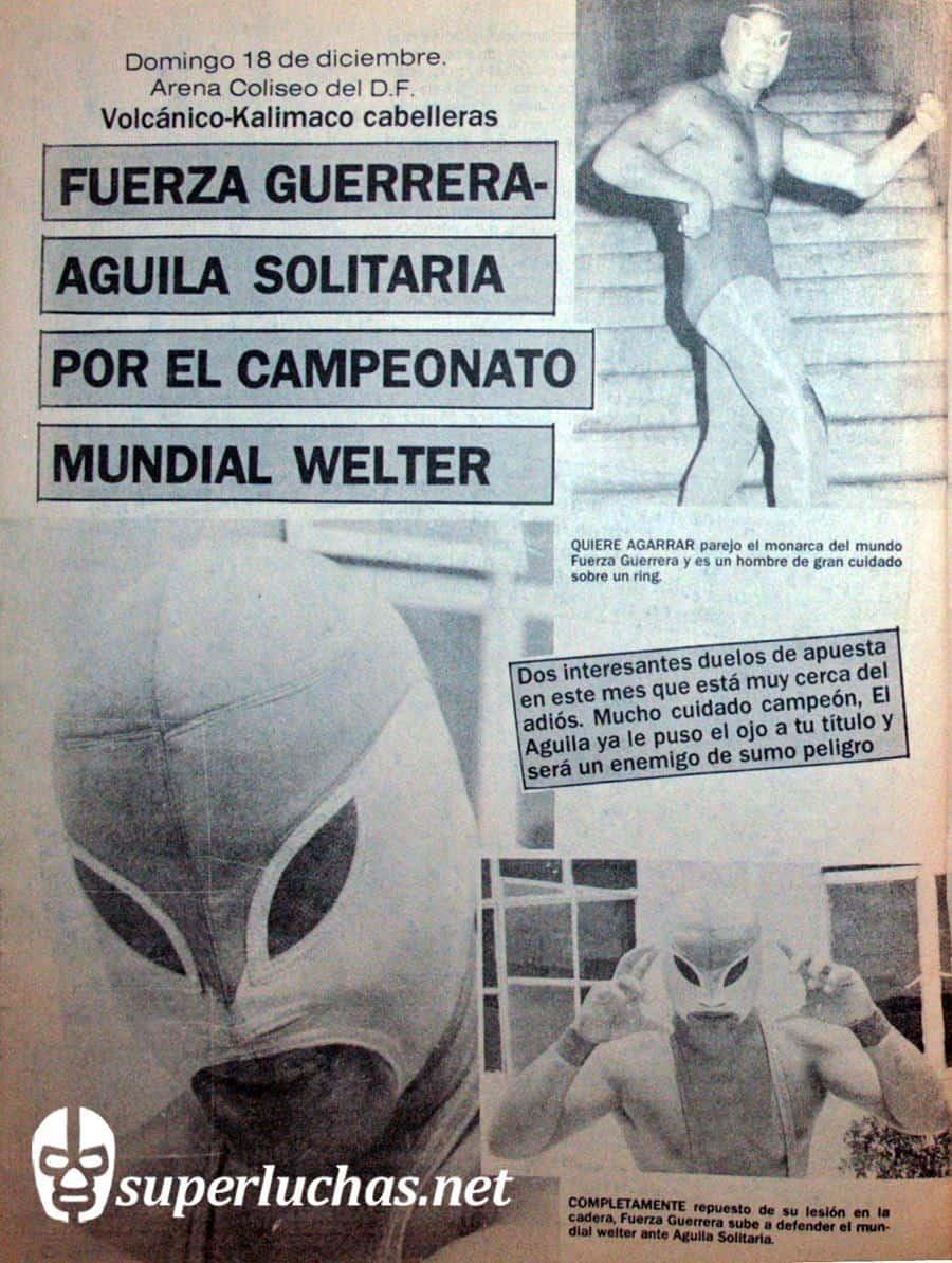 Fuerza Guerrera vs. Águila Solitaria.
