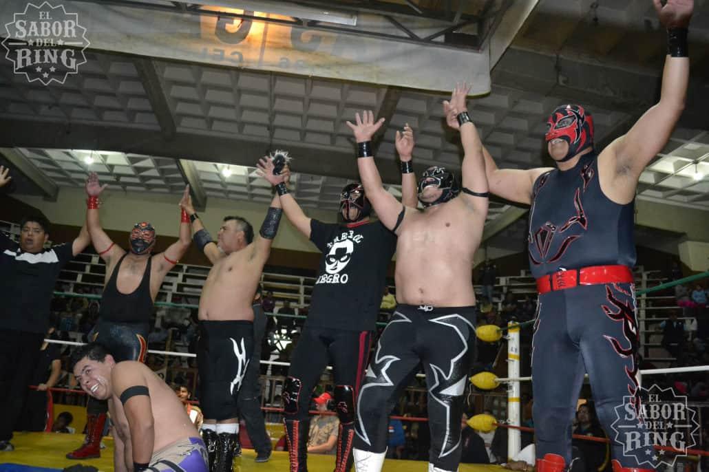 Capitán Furia, Break Demon, Trébol Negro, Maligno, Gran Amenaza en la Arena Coliseo de San Luis Potosí // Foto: @ElMemoPacheco