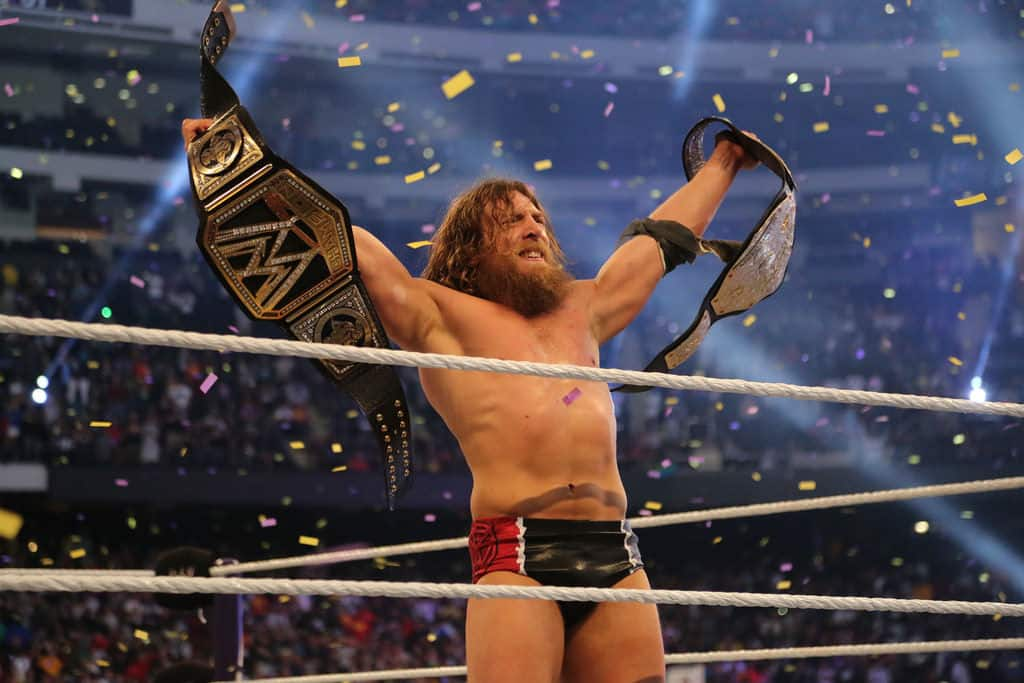 Daniel Bryan como WWE World Heavyweight Champion en WWE WrestleMania XXX (6/4/2014) / Photo by: jamie nyc - Flickr.com