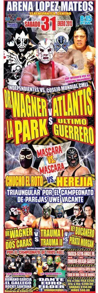 El CMLL bloquea fechas a Atlantis y Último Guerrero. 1