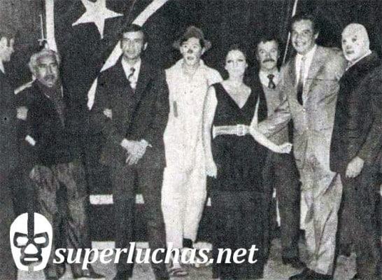 José Rojas, Pepe Loza, Angélica María, Carlos Suárez, Jaime Fernández y Santo