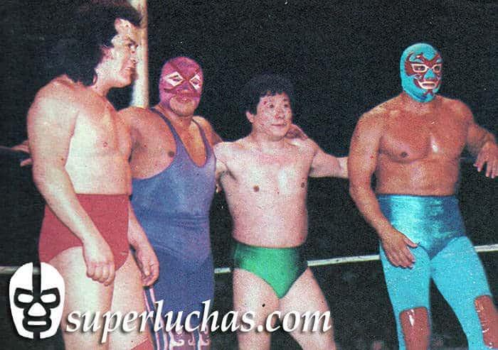 Perro Aguayo, Villano III, Gran Hamada y Dos Caras