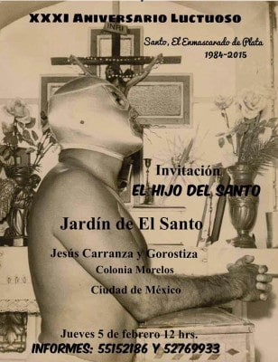 Evento en honor de Santo, el Enmascarado de Plata.