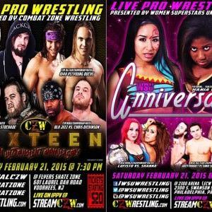 Este sábado, doble cartel en la ex ECW Arena: CZW SixTeen y WSU Anniversary 23