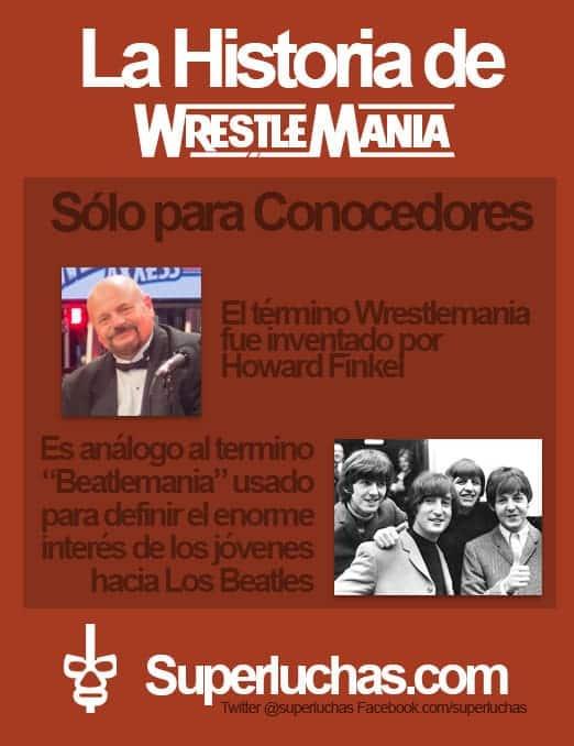 "Datos Wrestlemania - El Término ""Wrestlemania""."