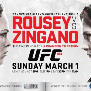 UFC 184 - Rousey vs Zigano