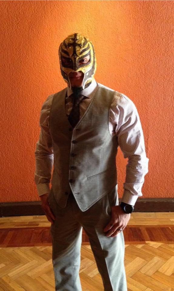 Rey Mysterio en la conferencia de prensa de AAA - Image By AAA