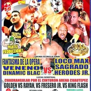 En la Arena Cuautepec, Sagrado, Loco Max y Herodes Jr. vs. Veneno, Dynamic Black y Fantasma de la Ópera 9