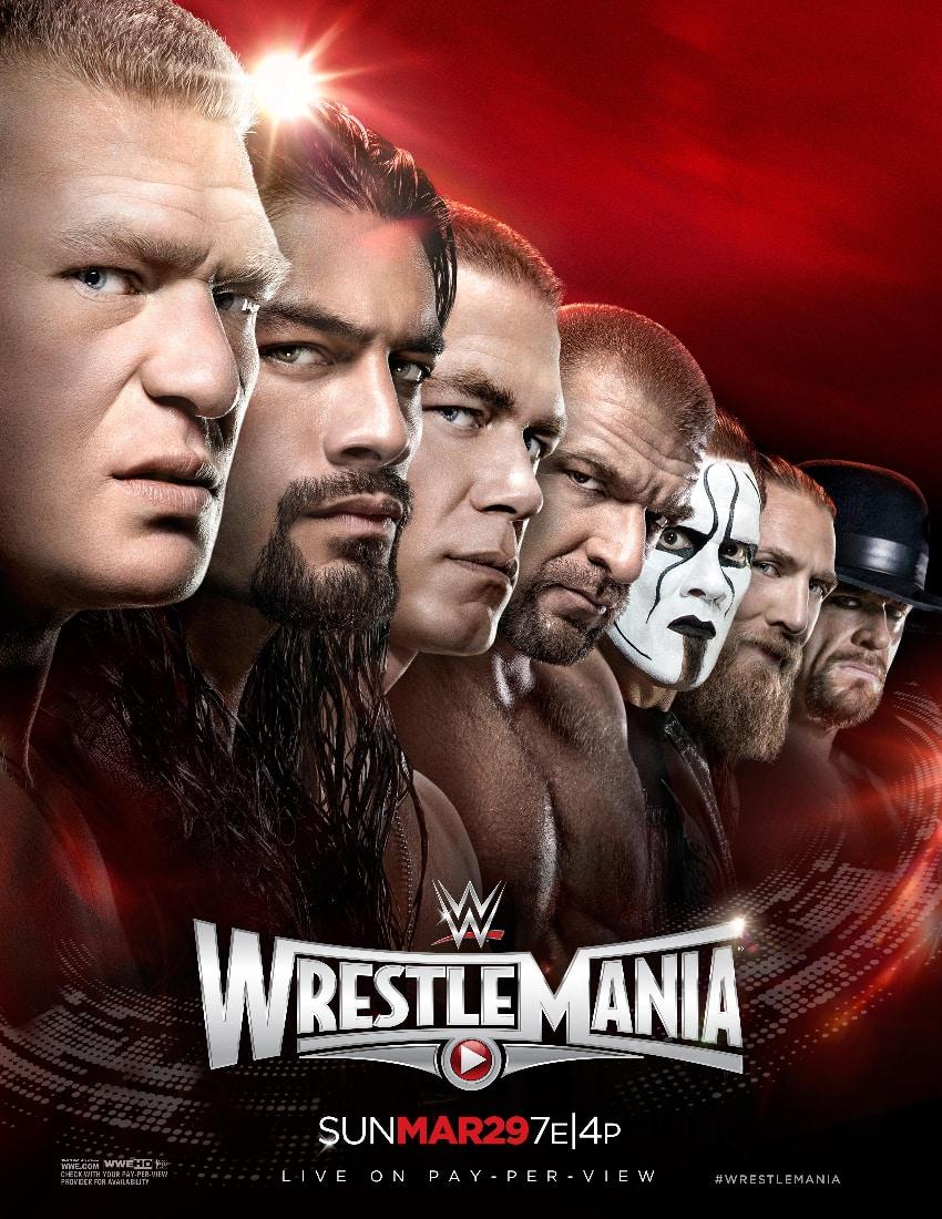 Poster oficial de Wrestlemania 31