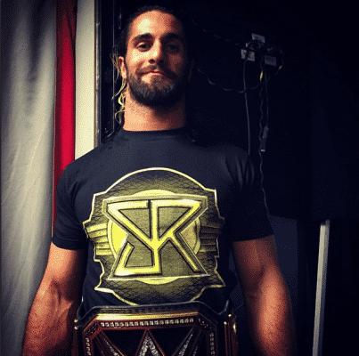Seth Rollins como campeón mundial de peso completo WWE - instagram.com/wwe