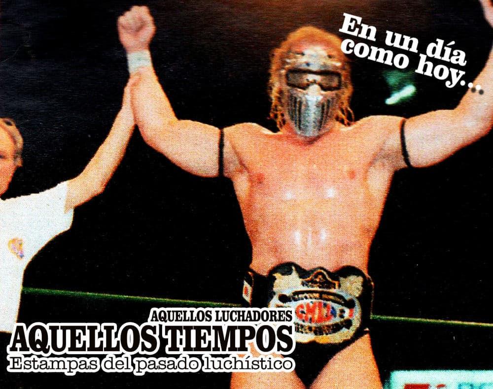 En un día como hoy... 1997: Steel (Val Venis) se convierte en Campeón Mundial de Peso Completo CMLL al vencer al Rayo de Jalisco Jr. 10