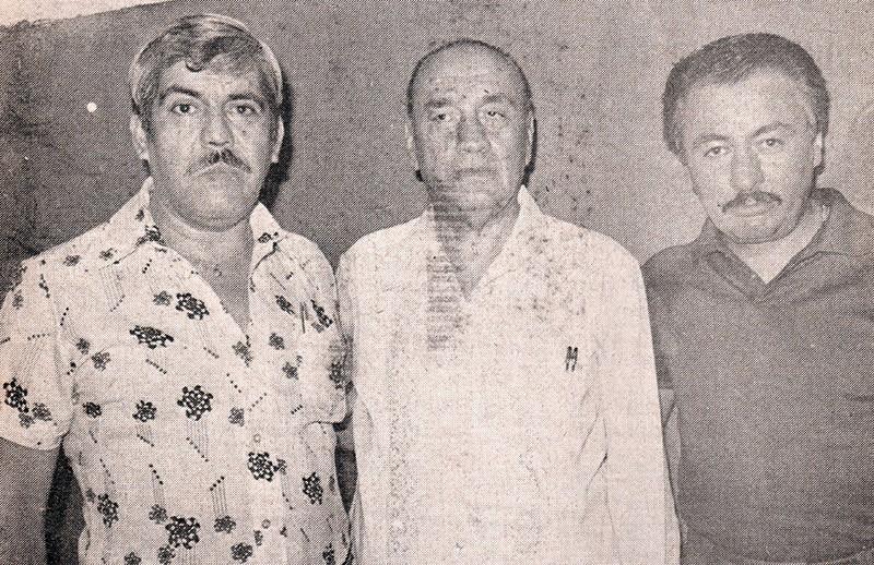 José Valdés, Francisco Flores y Carlos Máynez.