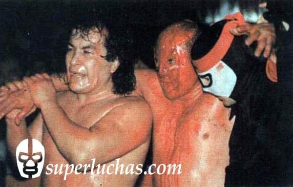 Perro Aguayo y Octagón ayudan al Hijo del Santo
