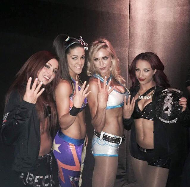 Becky Lynch, Bayley, Charlotte y Sasha Banks, divas de NXT - instagram.com/prowrestlingmovement