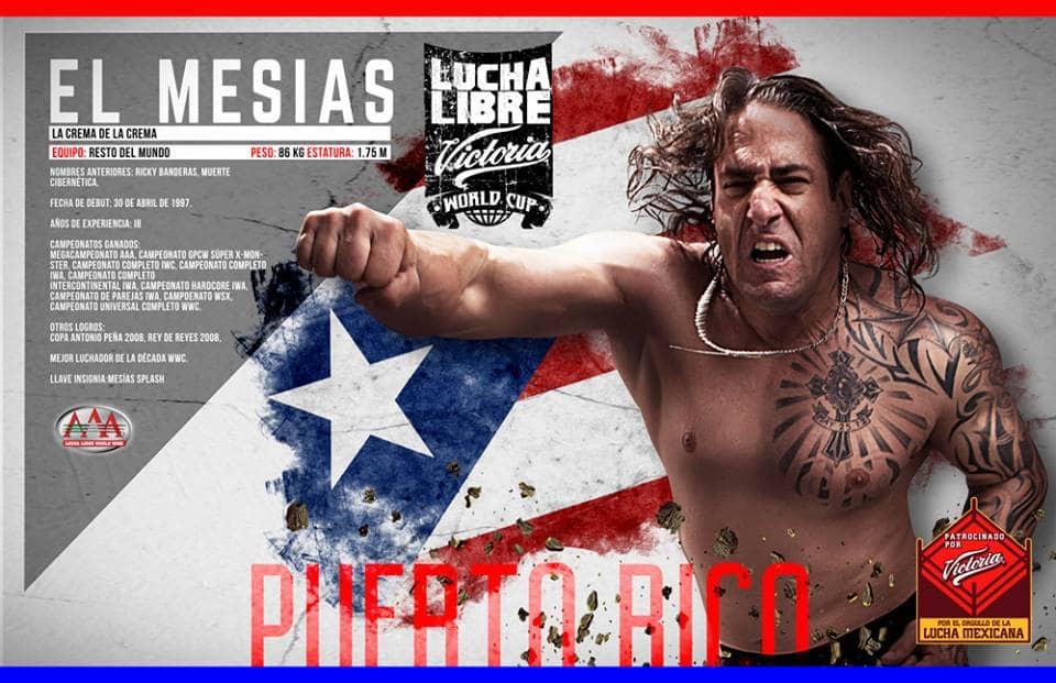 """AAA: """"El Mesías"""" Ricky Banderas listo para el Lucha Libre World Cup esta tarde en el Palacio de los Deportes 1"""