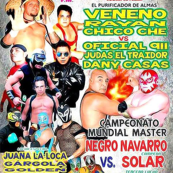 En la Arena Cuautepec, Veneno, Chico Che y Ryan vs. Danny Casas, Oficial 911 y Judas el Traidor 7