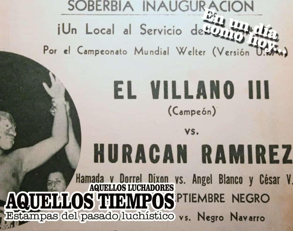 En un día como hoy... 1977: Francisco Flores inaugura la Arena Poza Rica... Ruleta de máscaras en El Toreo 1