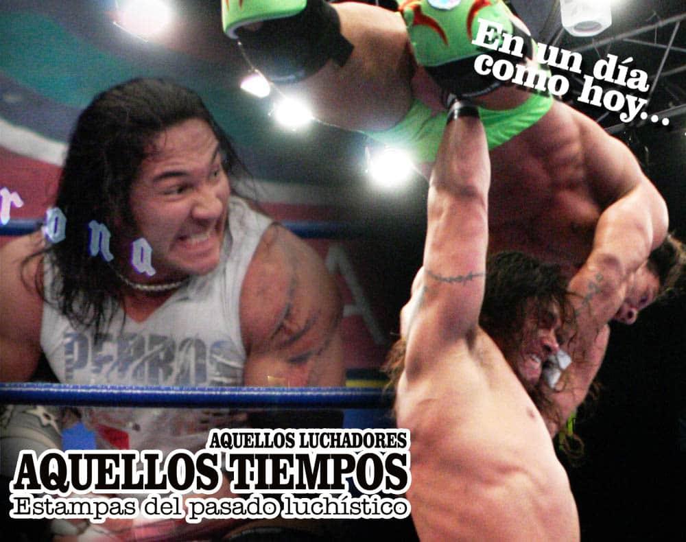 En un día como hoy... 2008: Triangular de cabelleras: Hijo del Perro, Toscano, Heavy Metal... Místico y Héctor Garza, campeones 7