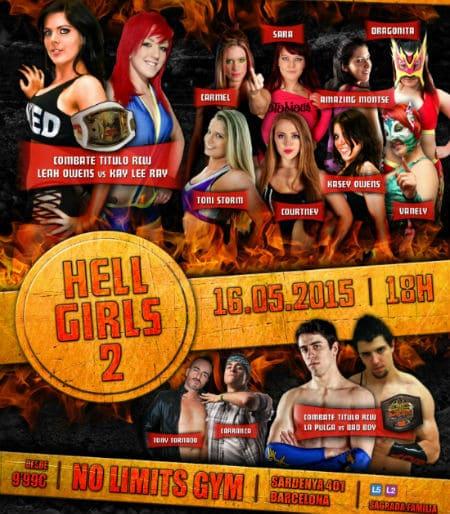 "RCW presenta ""Hell Girls 2"", el 16 de mayo en Barcelona 1"