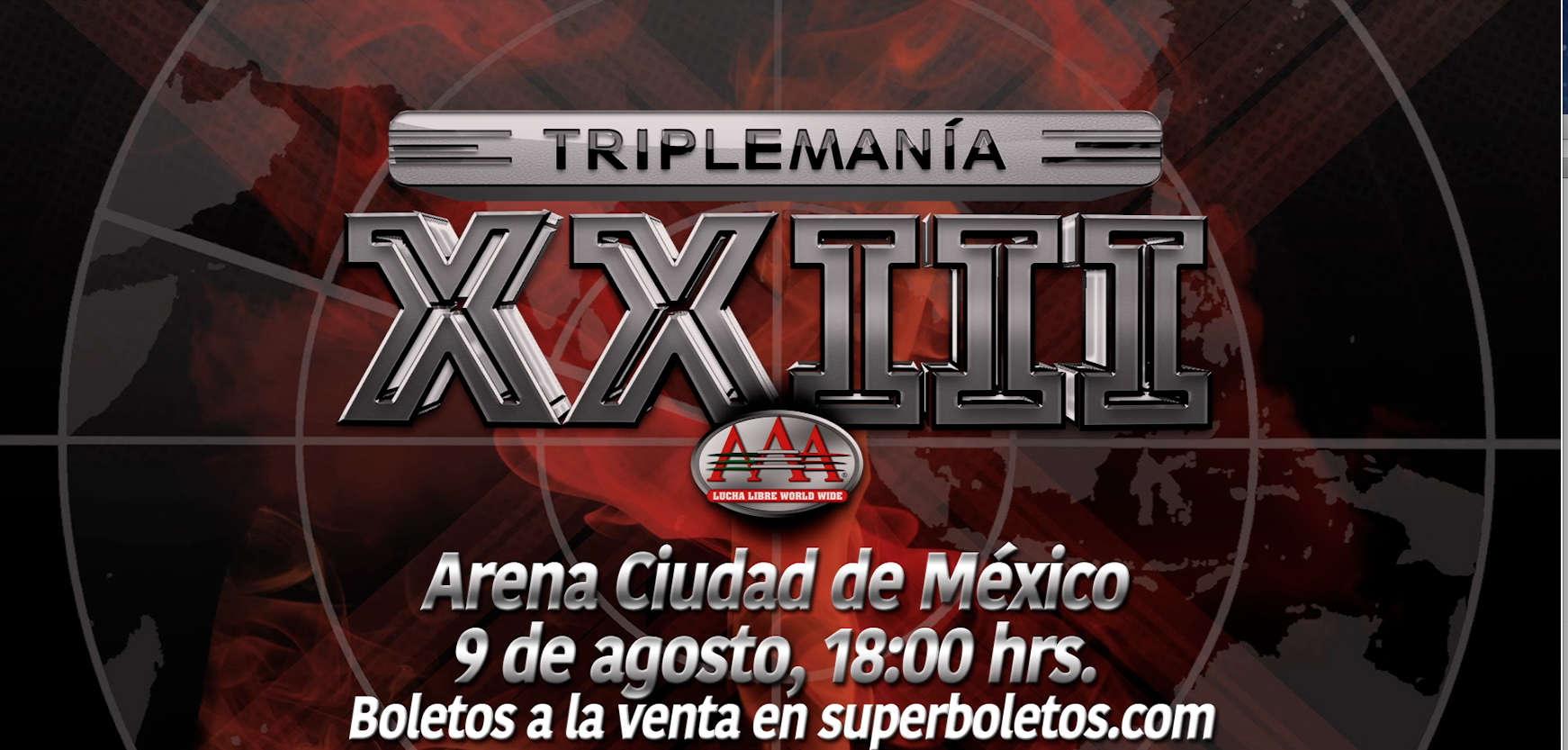AAA: Se dan a conocer fecha y sede para Triplemanía XXIII 7