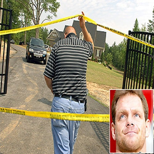La casa de Chris Benoit en Fayetteville, Georgia, en donde asesinó a su esposa e hijo y luego se suicidó (Junio, 2007)