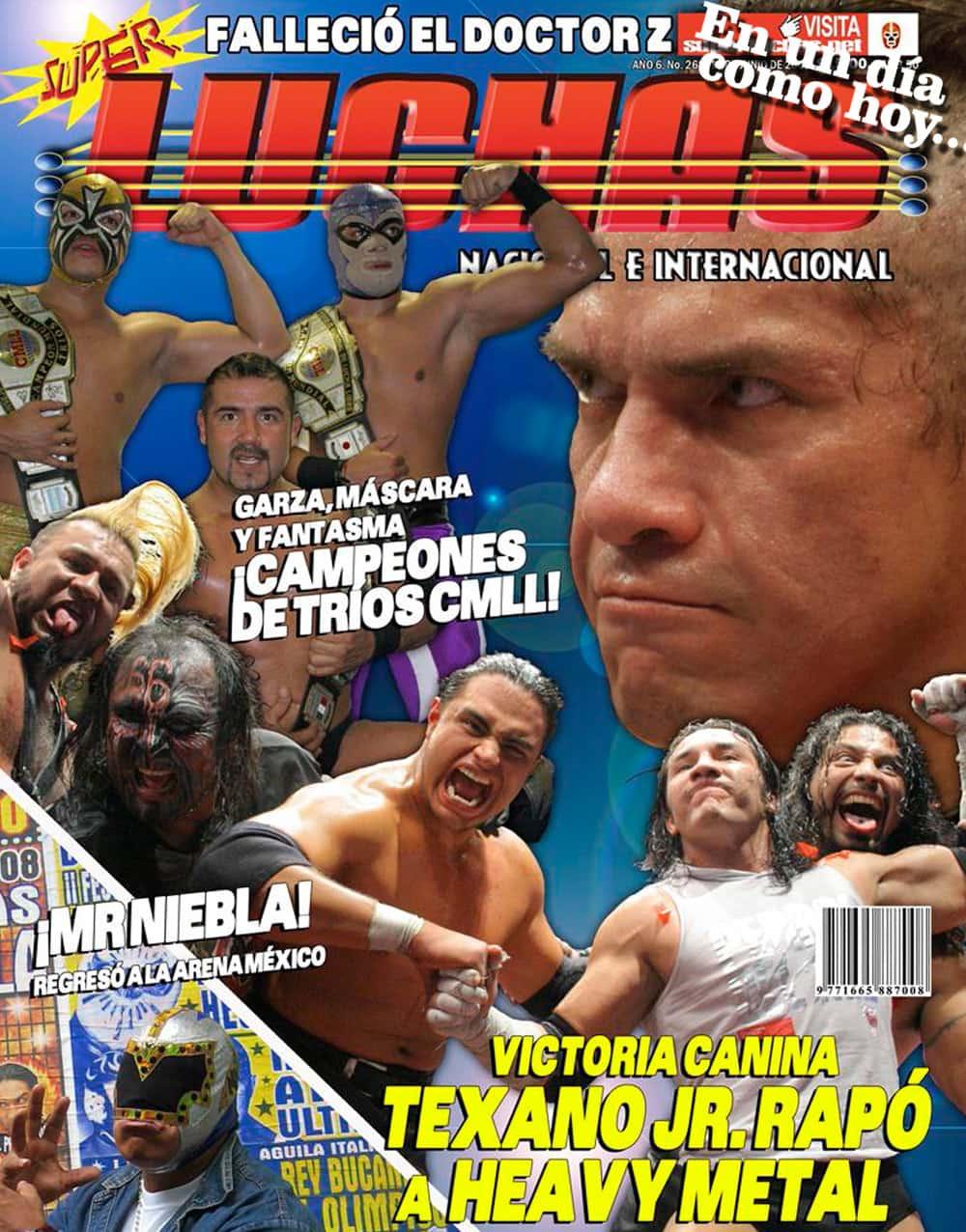 En un día como hoy... 2008: Heavy Metal, rapado en Infierno en el Ring... AAA celebra Triplemanía XVI 8