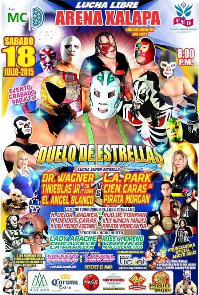 Cartel de la gira en Veracruz.