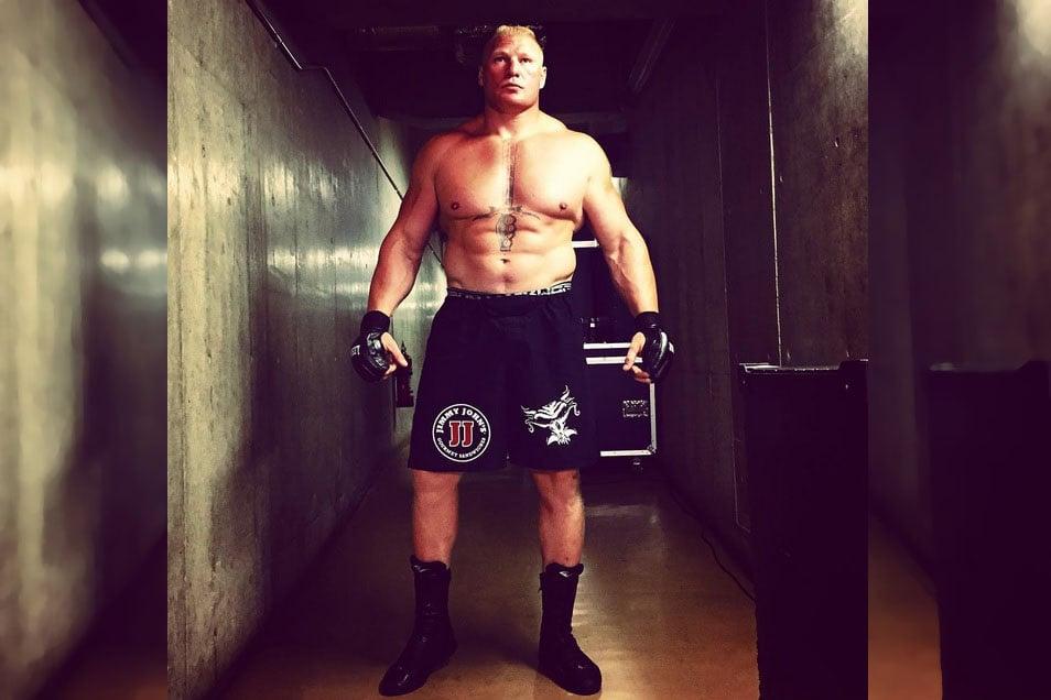 Brock Lesnar en The Beast in the East - instagram.com/wwe