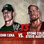 """John Cena vs Stone Cold Steve Austin en el videojuego """"WWE'13"""""""