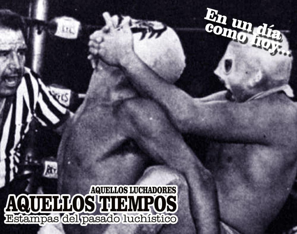 En un día como hoy... 1985: Hijo del Santo desenmascara a Aristóteles... 1972: Alfonso Dantés retiene el Campeonato Mundial Semicompleto NWA ante Ray Mendoza 4