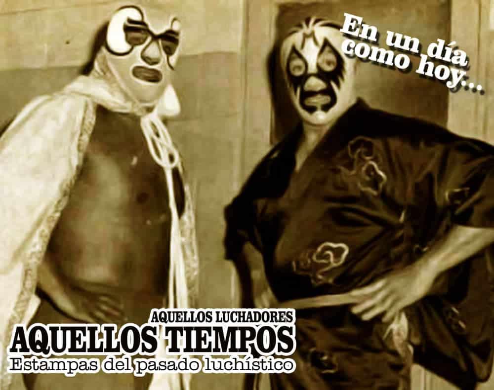 En un día como hoy... 1977: Mil Máscaras vs. El Halcón, máscara contra máscaras... 1960: Gori Guerrero destrona a Ray Mendoza 3