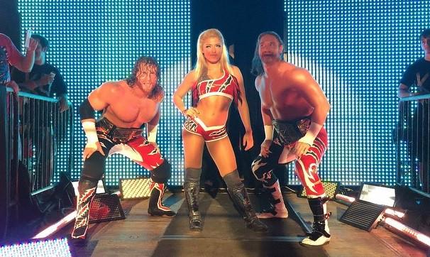 Blake & Murphy y Alexa Bliss en NXT - instagram.com/wwenxt