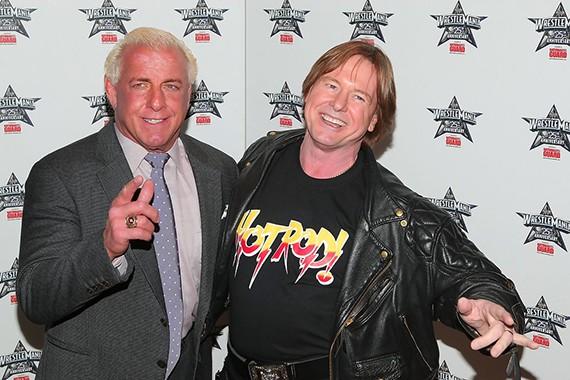 Amigos y rivales, Ric Flair y Roddy Piper al final de su carrera.