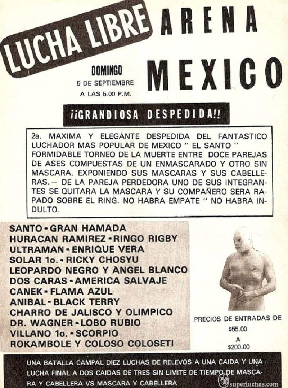 Despedida de Santo en la Arena México