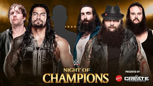 Dean Ambrose, Roman Reigns y un compañero vs. The Wyatt Family en Night of Champions 2015 - wwe.com