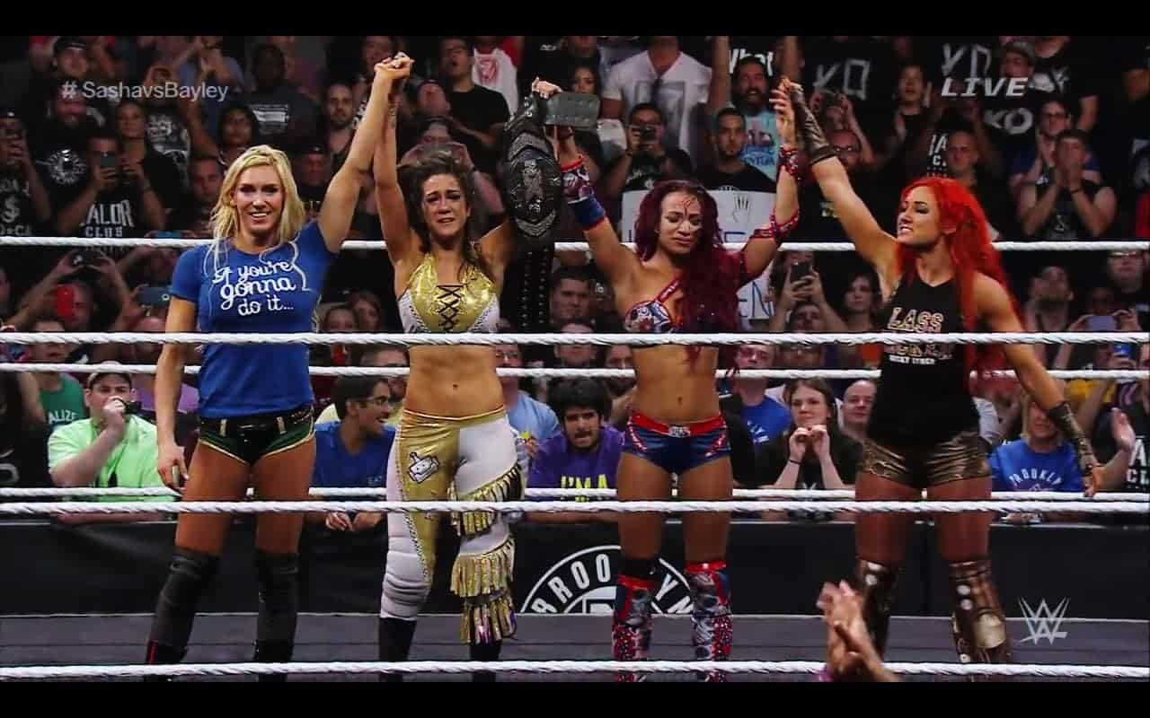 The Four Horsewomen en NXT Takeover: Brooklyn: Charlotte, Bayley, Sasha Banks & Becky Lynch