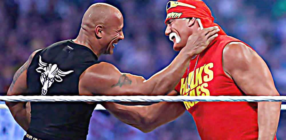 The Rock y Hulk Hogan