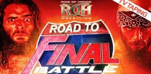 Resultados de las grabaciones de ROH Road To Final Battle (20 de noviembre de 2015) 19